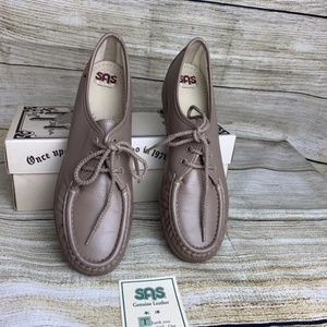 NEW SAS Siesta Oxfords Mocha Lace Up Loafers 8.5
